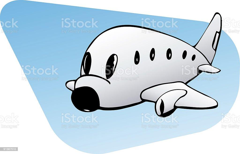 Kleine kommerziellen Flugzeug – Vektorgrafik