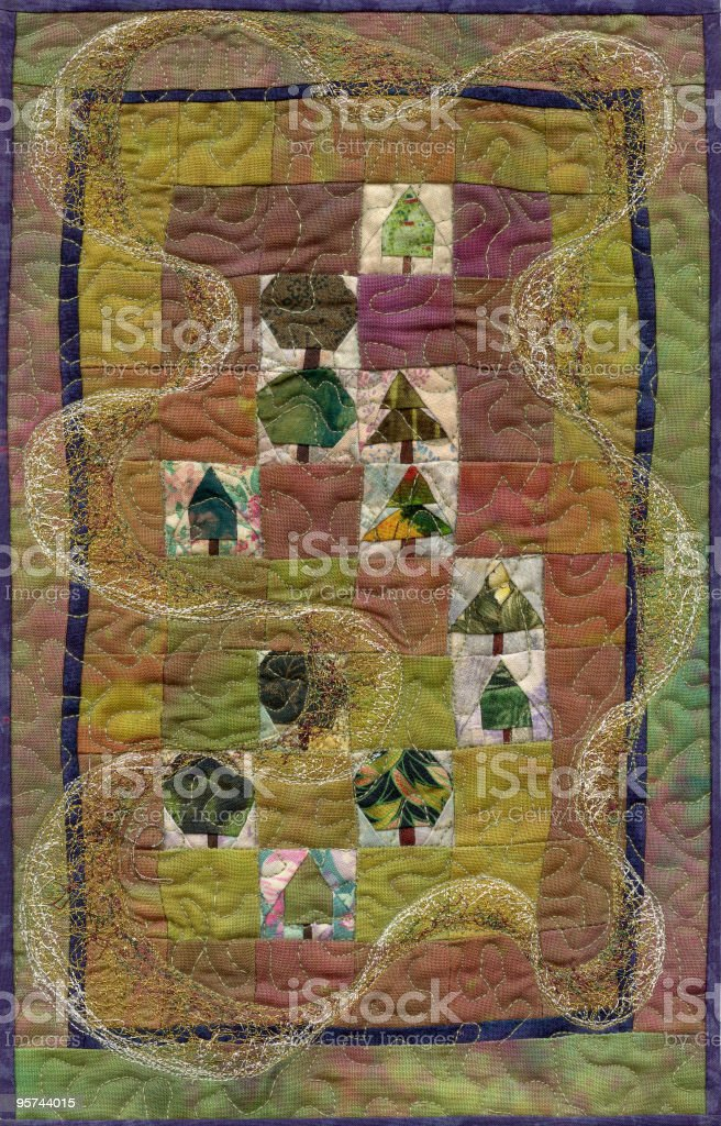 Tiny Tree Quilt royalty-free stock vector art
