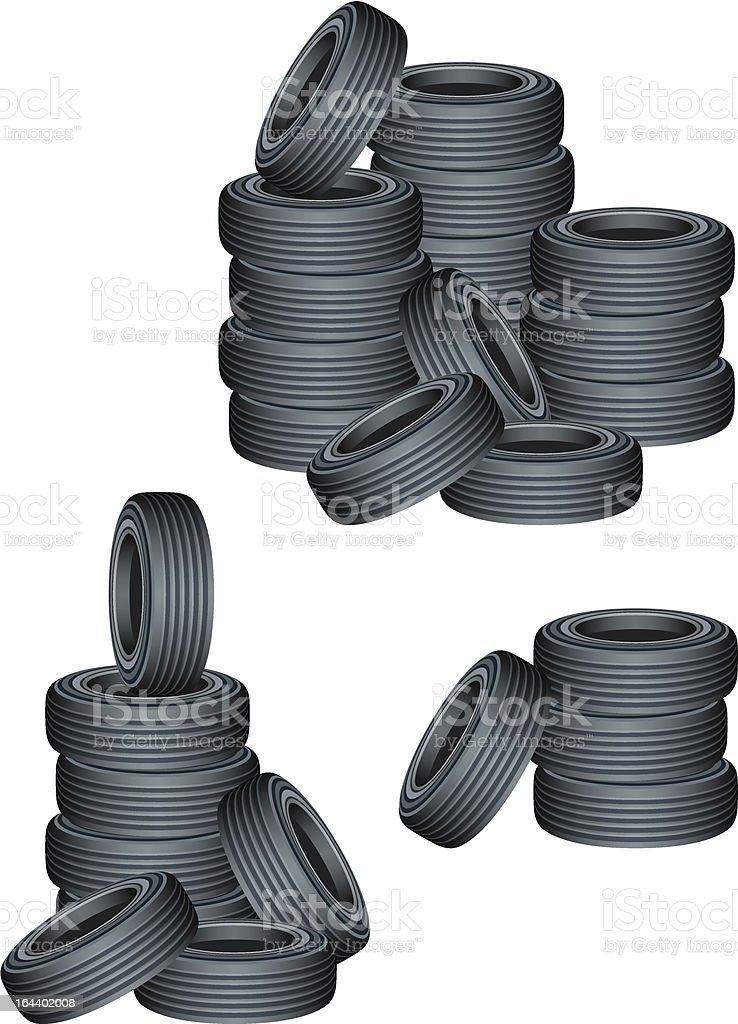 Tires royalty-free stock vector art