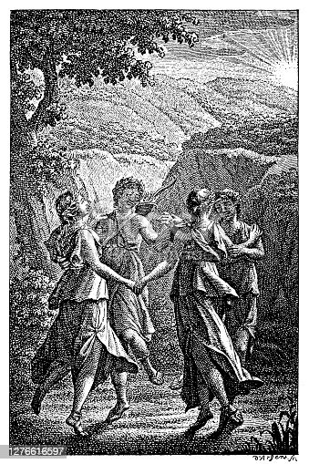 Illustration of a Title copper from the Musenalmanac from 1789