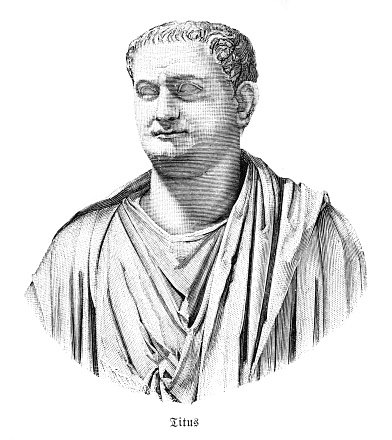 Titus ( Titus Caesar Vespasianus; 30 December 39 - 13 September 81 AD ) was Roman emperor from 79 to 81. Original edition from my own archives Source : Weltgeschichte 1887