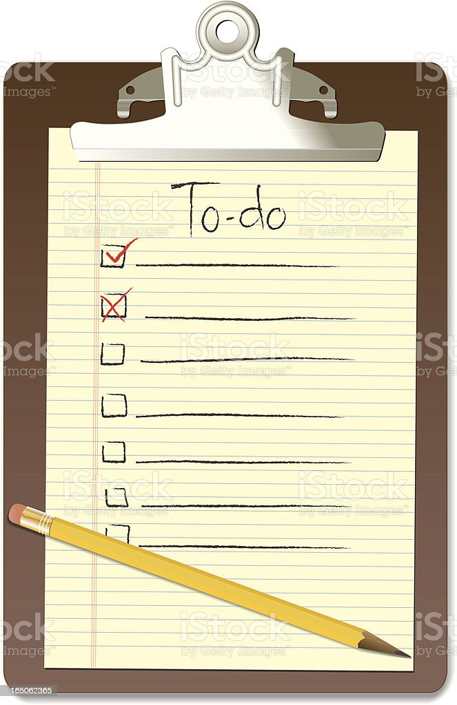 To-Do List royalty-free todo list stock vector art & more images of checklist