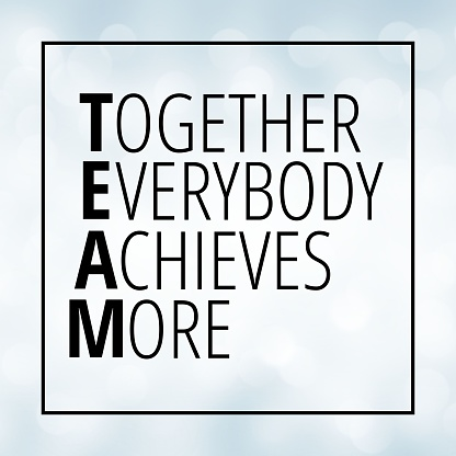 Together everybody achieves more