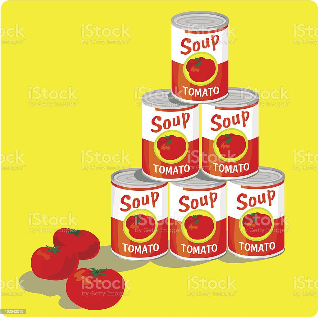 tomato soup vector art illustration