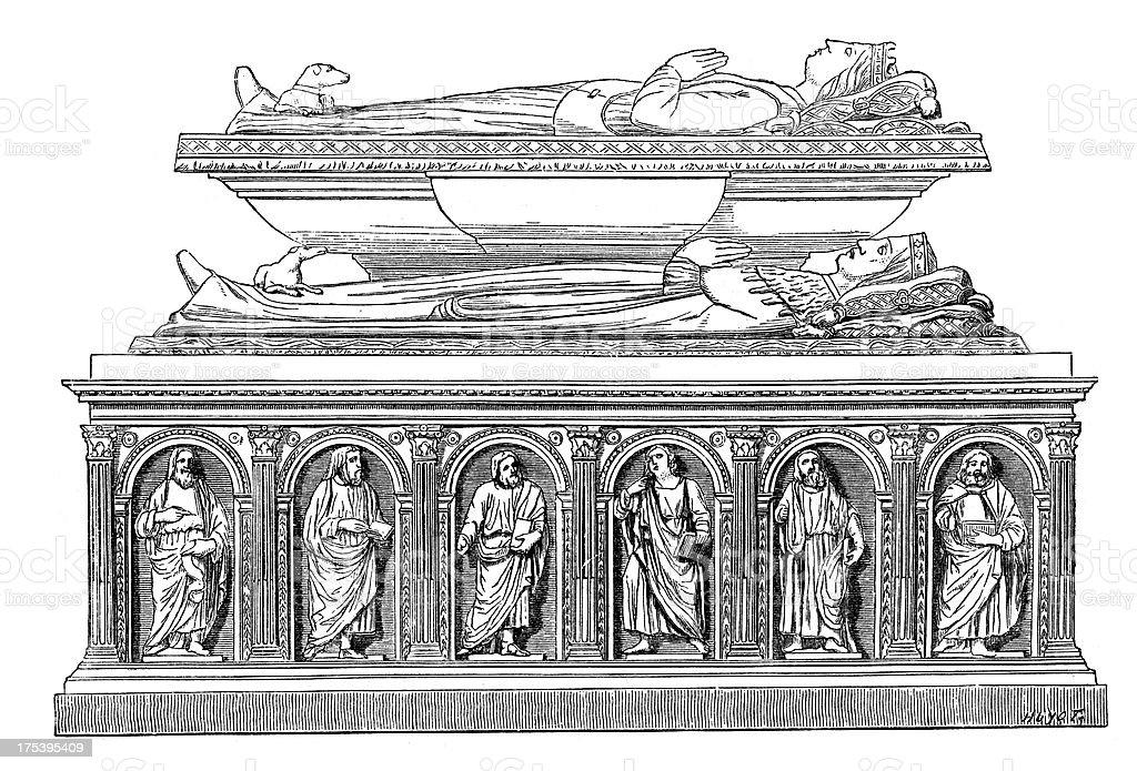Tomb: Louis, Duke of Orleans vector art illustration