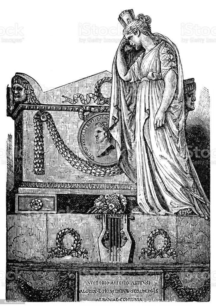 Tomb of Vittorio Alfieri vector art illustration