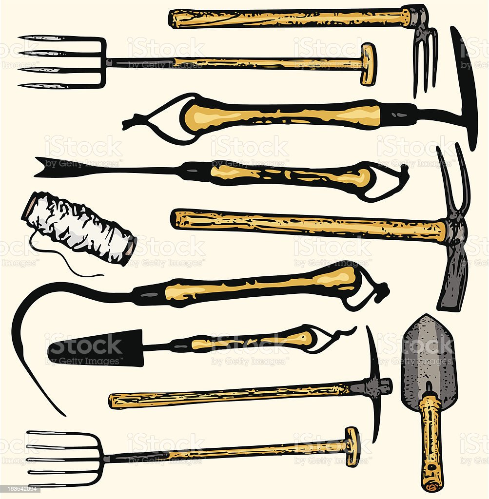 Tool Illustrations XV: Gardening Tools (Vector) royalty-free tool illustrations xv gardening tools stock vector art & more images of agriculture