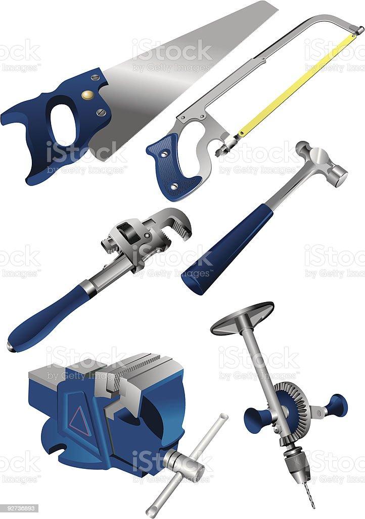 tool set royalty-free stock vector art