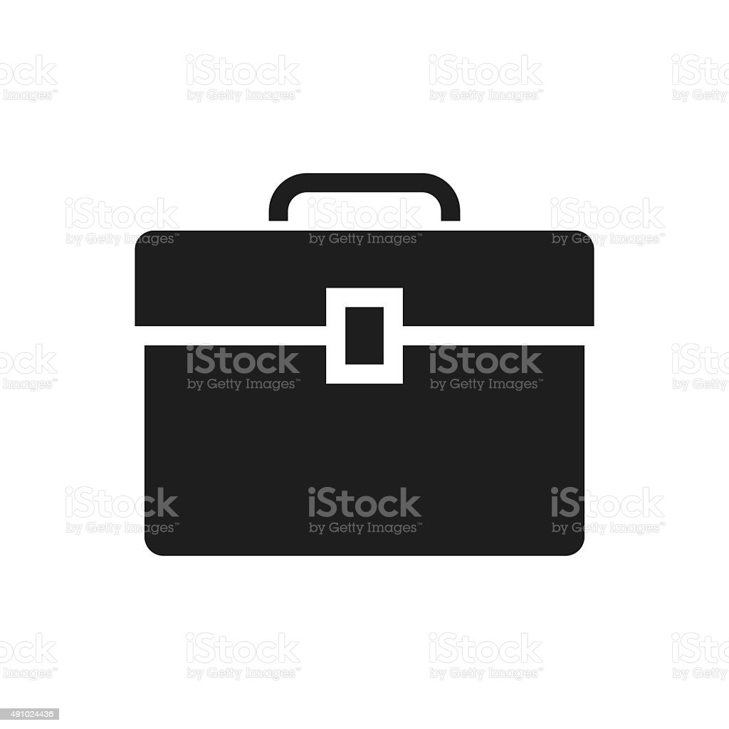 Toolbox icon on a white background. - SingleSeries vector art illustration