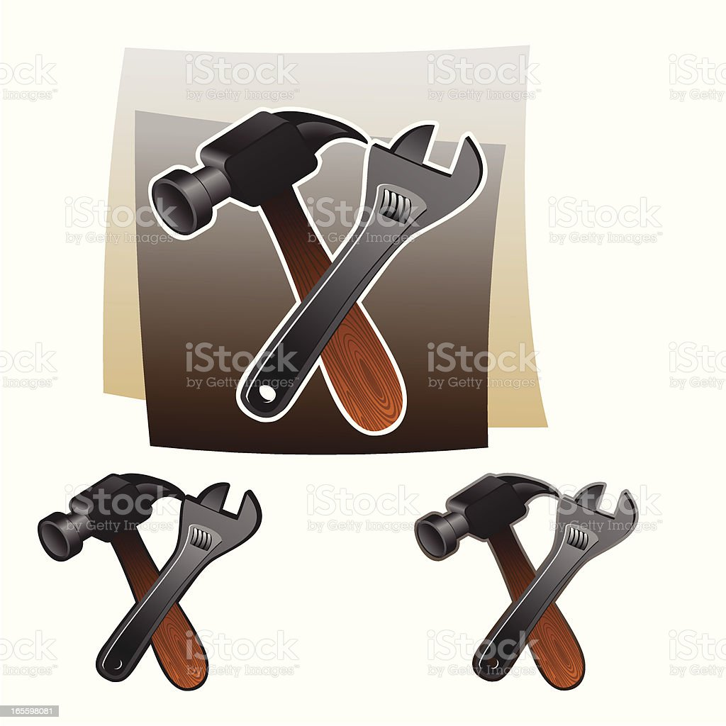 Tools royalty-free tools stock vector art & more images of adjustable wrench