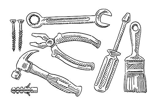 Tools Set Drawing
