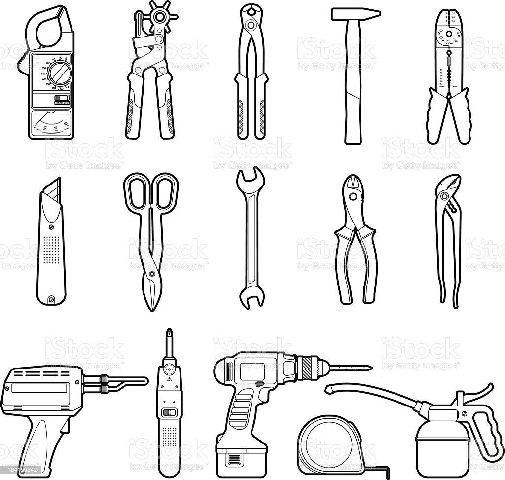 Tools set royalty-free stock vector art