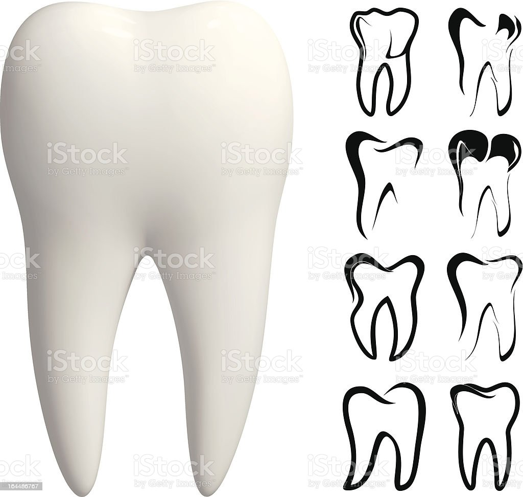 Tooth vector icon set royalty-free tooth vector icon set stock vector art & more images of abstract