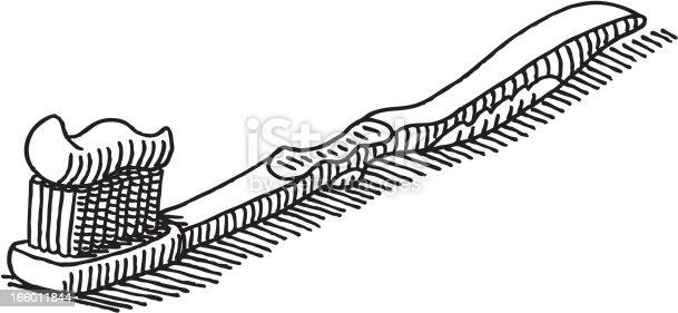 istock Toothbrush Drawing 166011844
