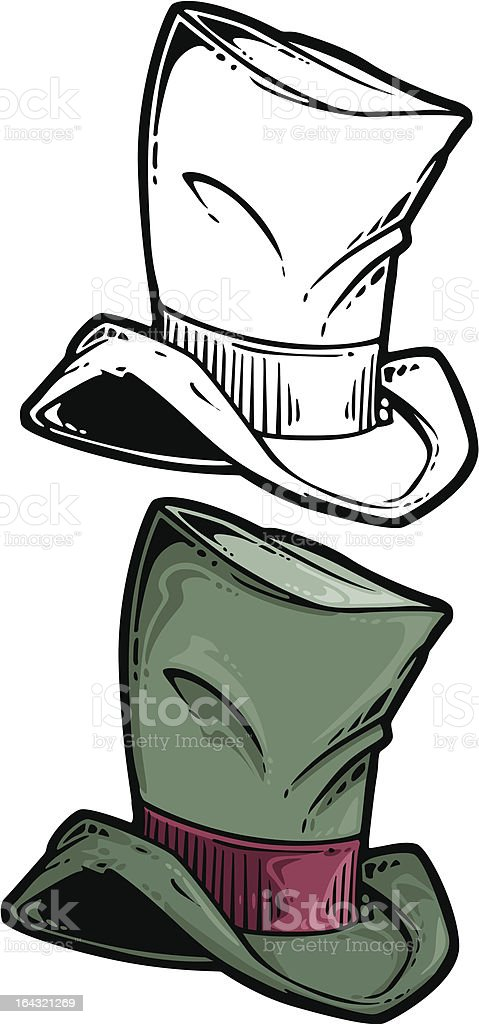 top hat vector art illustration