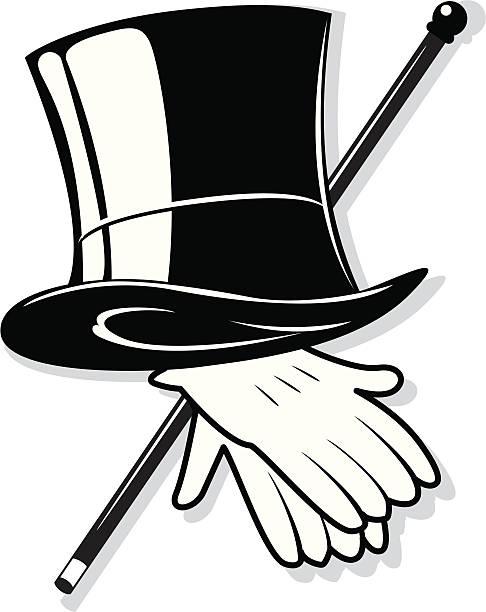 Top Hat Clip Art, Vector Images & Illustrations - iStock
