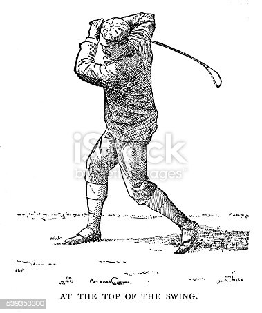 Top Of The Swing - 1890 Engraving
