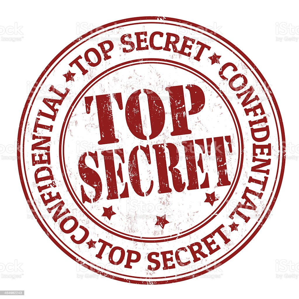 Top Secret Stamp Stock Vector Art More Images Of Army 454982243