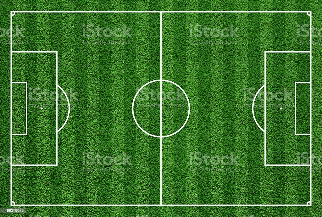 Top view of soccer field or football field. vector art illustration