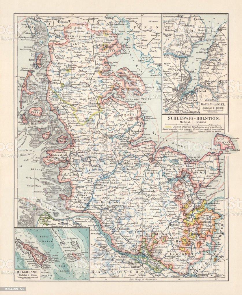 Deutsches Reich Karte.Topographische Karte Von Schleswigholstein Deutsches Reich