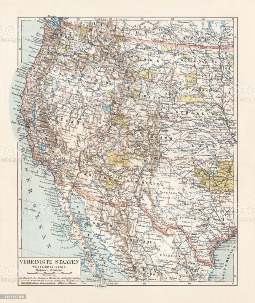 Topographic Map Of The United States Western States ...