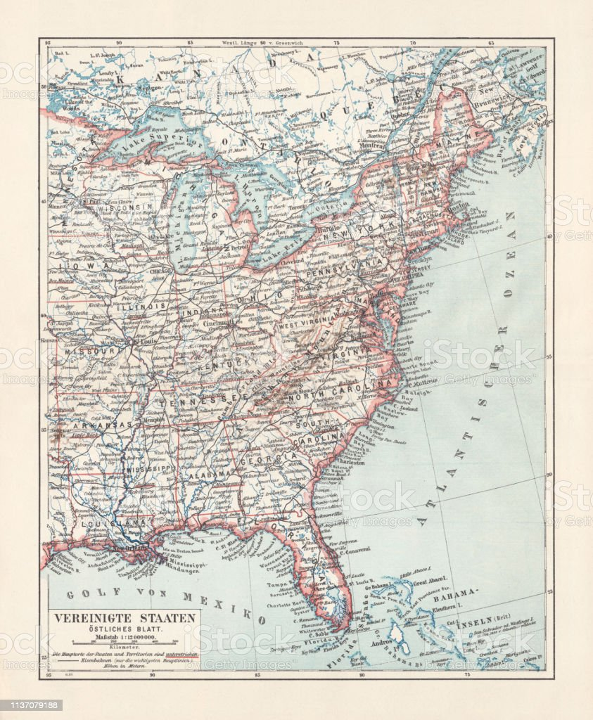 Topographical Map Of The United States Eastern States ...