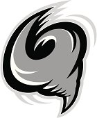 logo style tornado or hurricane. Great for sports logos & team mascots.