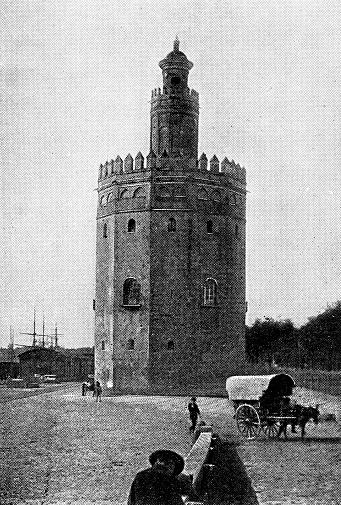 Torre del Oro in Seville, Spain - 19th Century