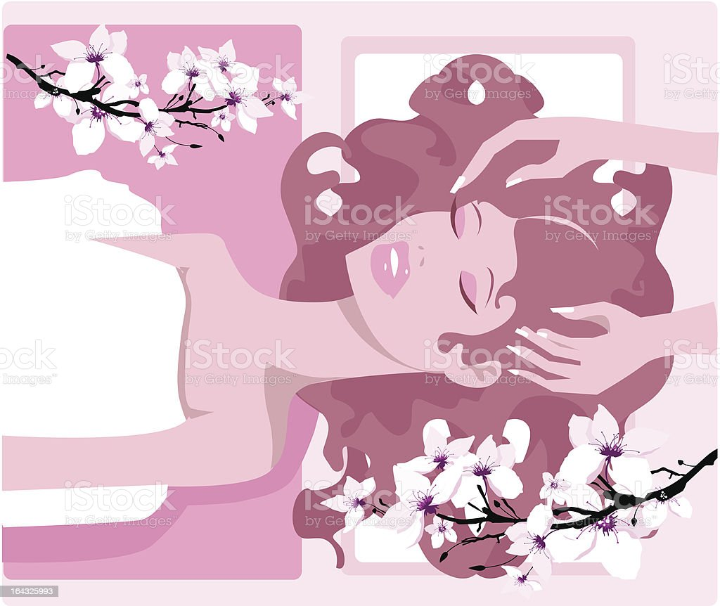 Total spa relaxation vector art illustration