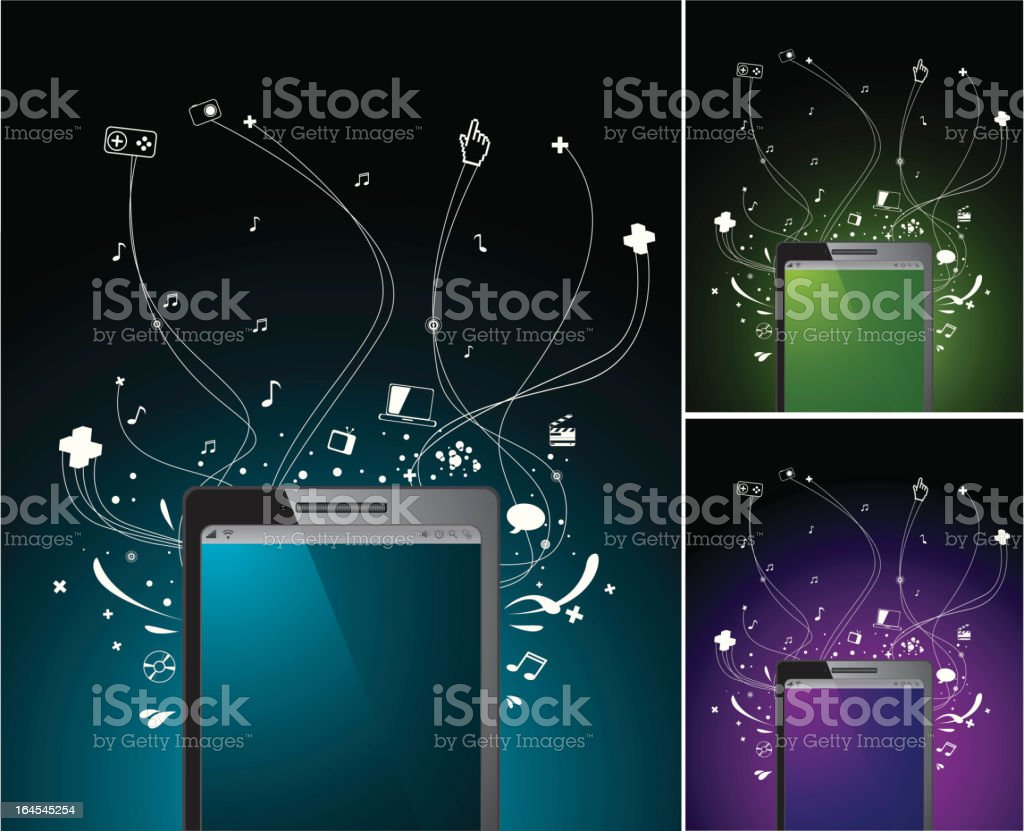 Touch screen personal organizer royalty-free stock vector art