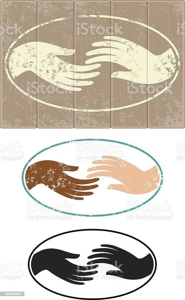 Touching royalty-free stock vector art