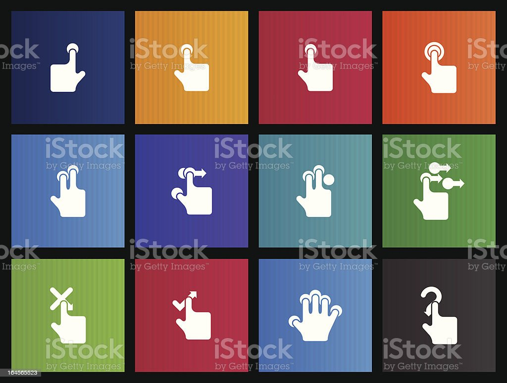 Touchpad Gestures Icons vector art illustration
