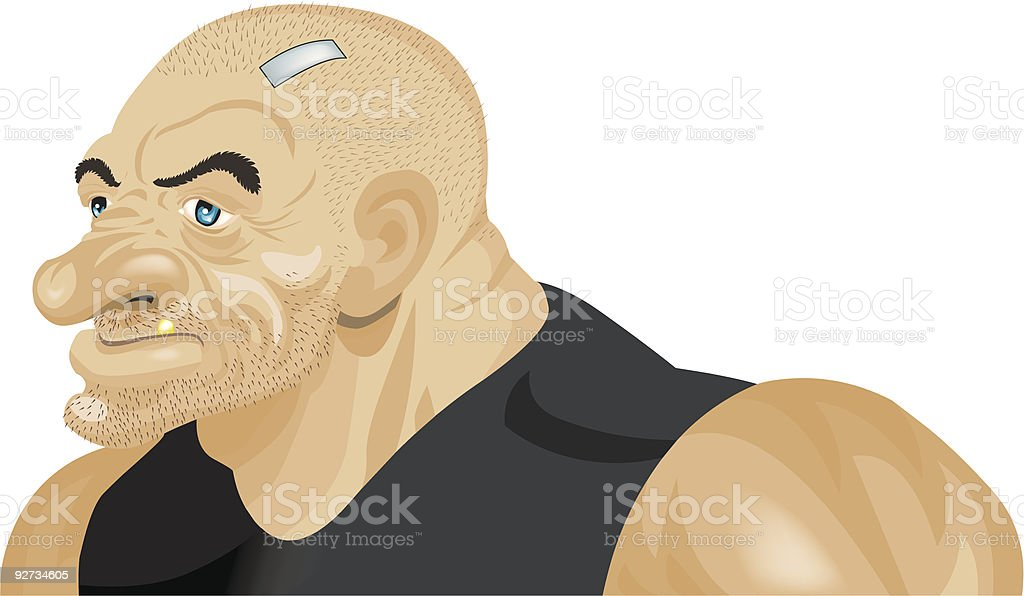 Tough Guy royalty-free stock vector art