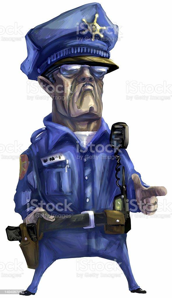 Tough Policeman royalty-free stock vector art