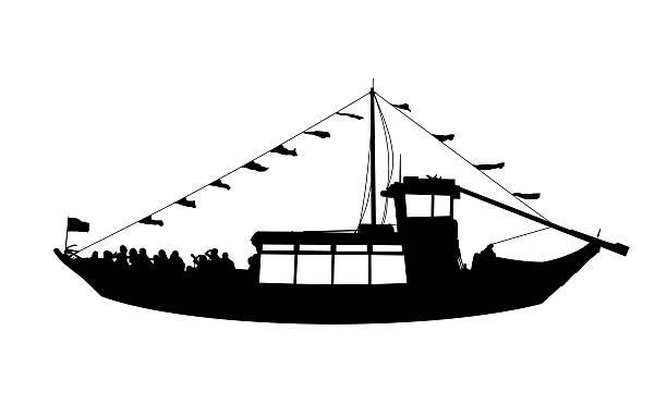 ilustrações de stock, clip art, desenhos animados e ícones de touristic perfil de vista de navio - douro