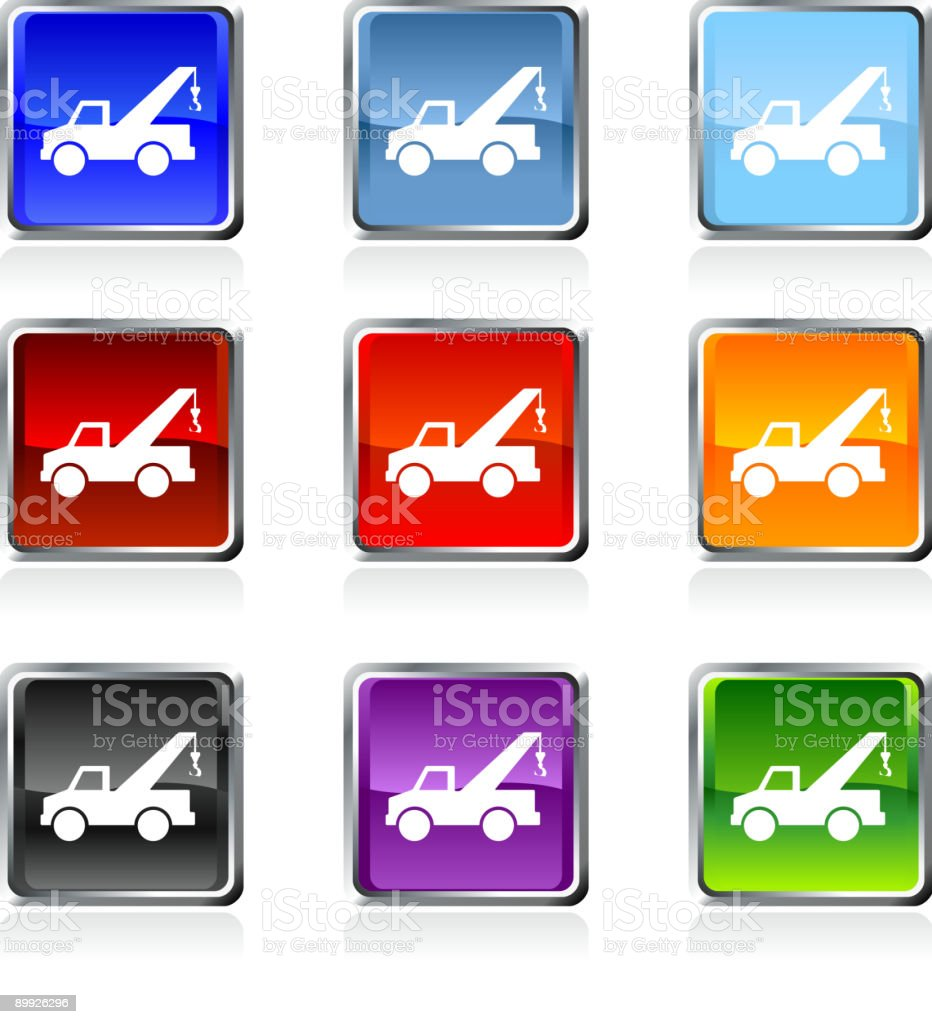 Tow Truck Royalty Free Vector Art In Nine Colors Stock Illustration Download Image Now Istock