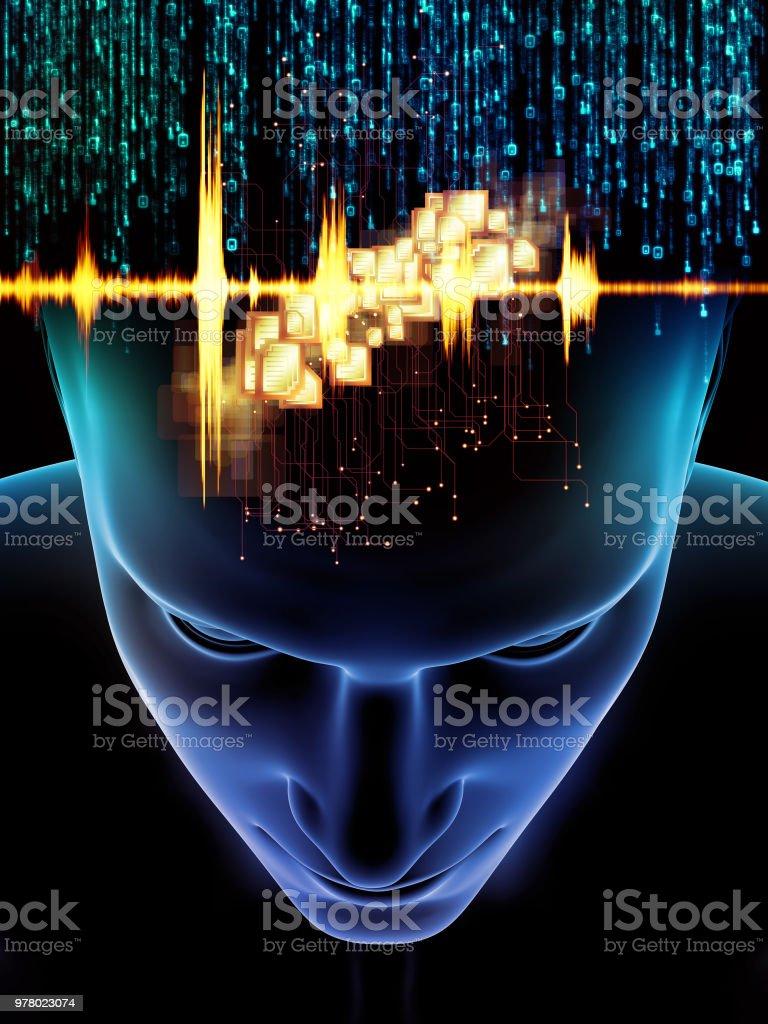 Toward Digital Consciousness vector art illustration