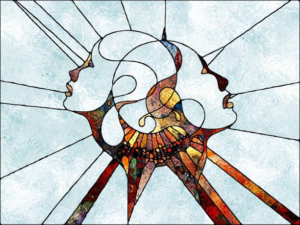 Toward Digital Stained Glass vector art illustration