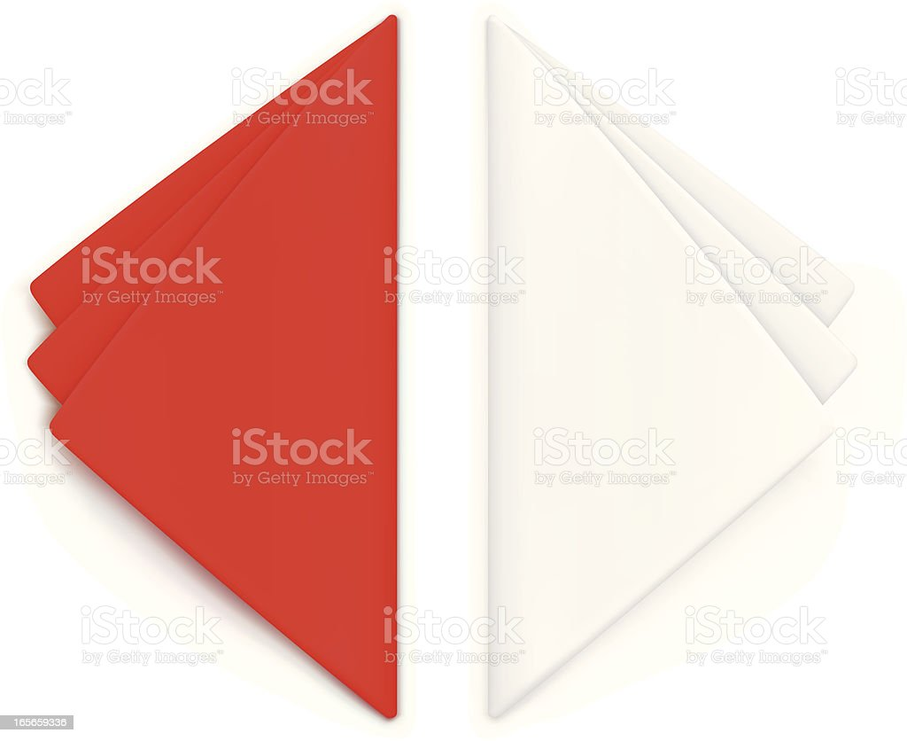 Serviettes vector art illustration