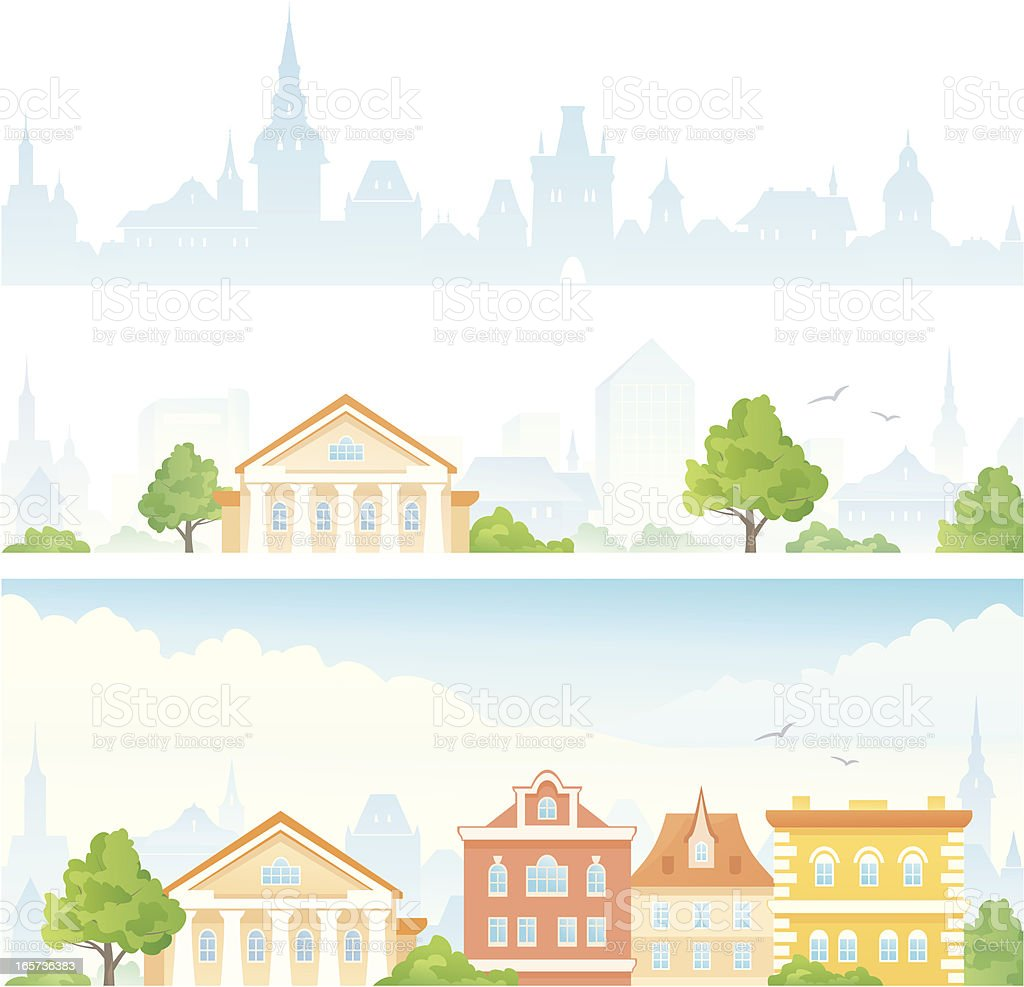 Town banners royalty-free stock vector art