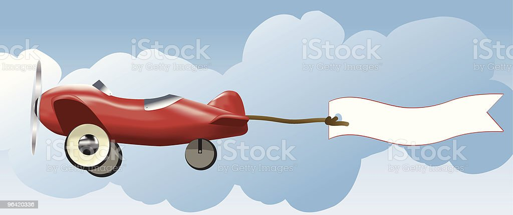 Toy Plane and banner vector art illustration