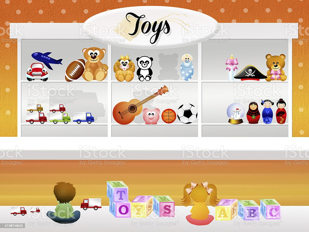 Toy store royalty-free stock vector art