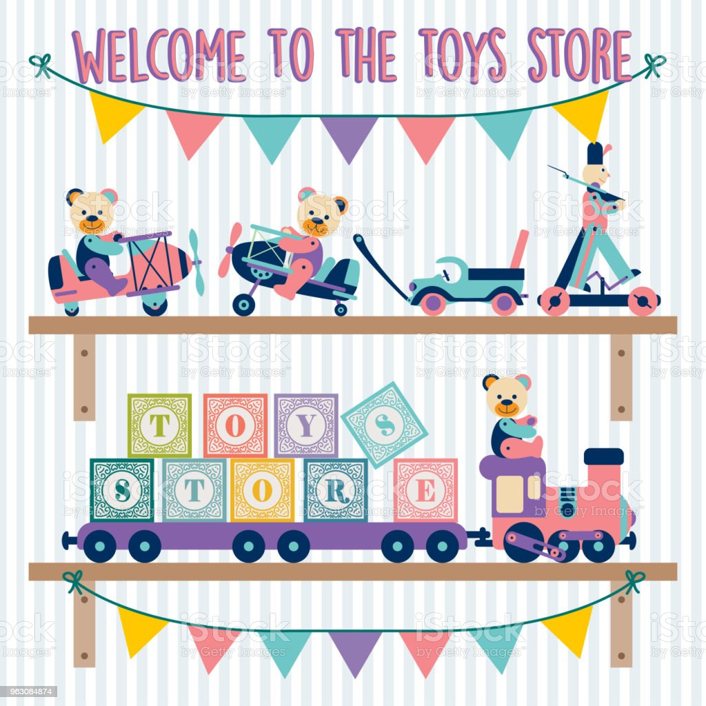 toys 03 - ilustração de arte vetorial