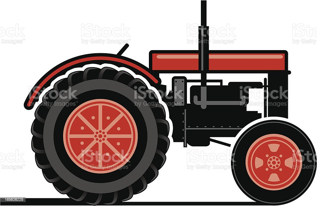 Tractor two royalty-free stock vector art