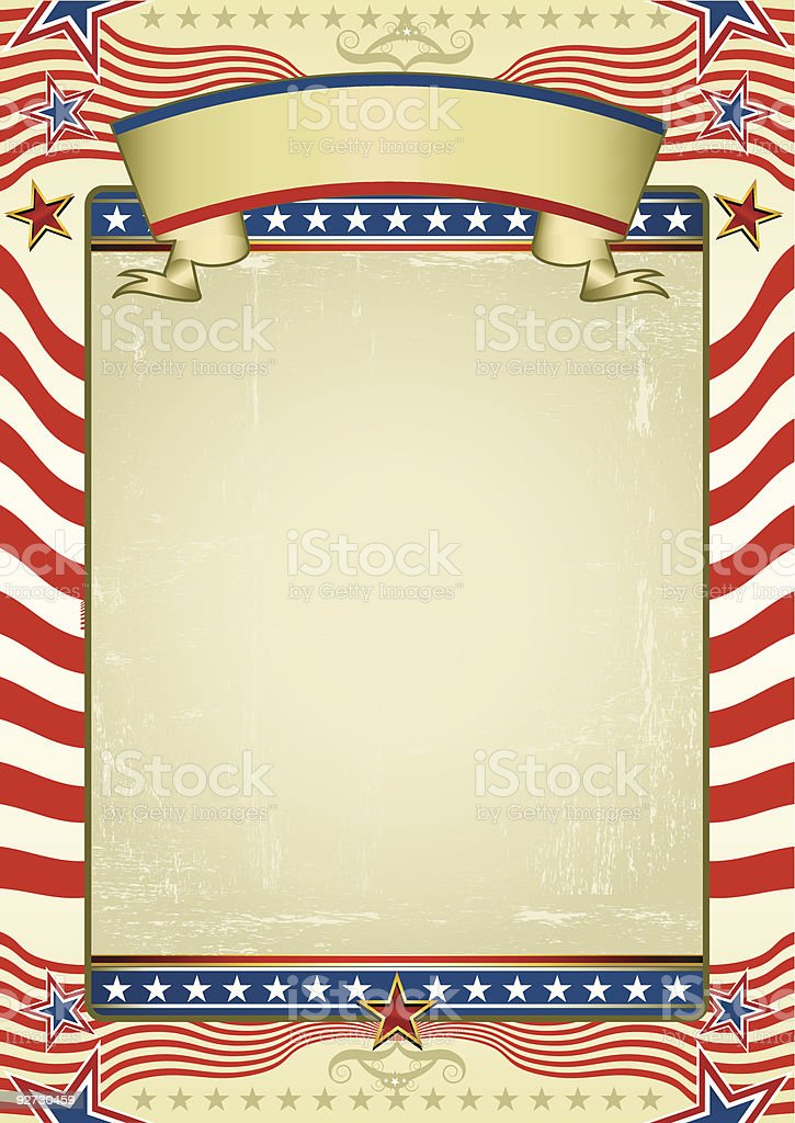 Traditional american background royalty-free stock vector art