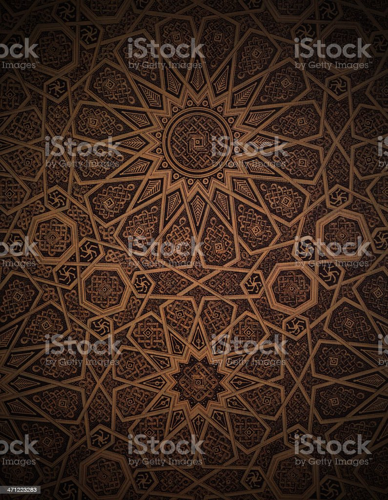 Traditional Arabesque Background vector art illustration