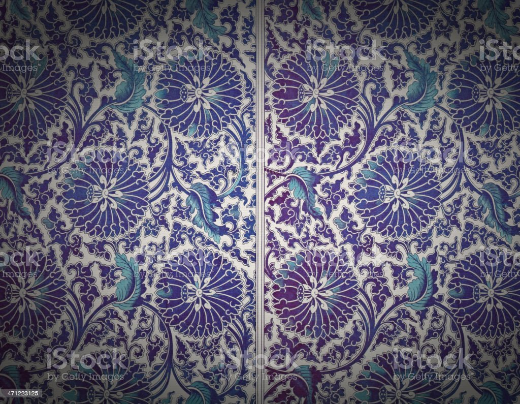 Traditional Asian Wallpaper royalty-free stock vector art