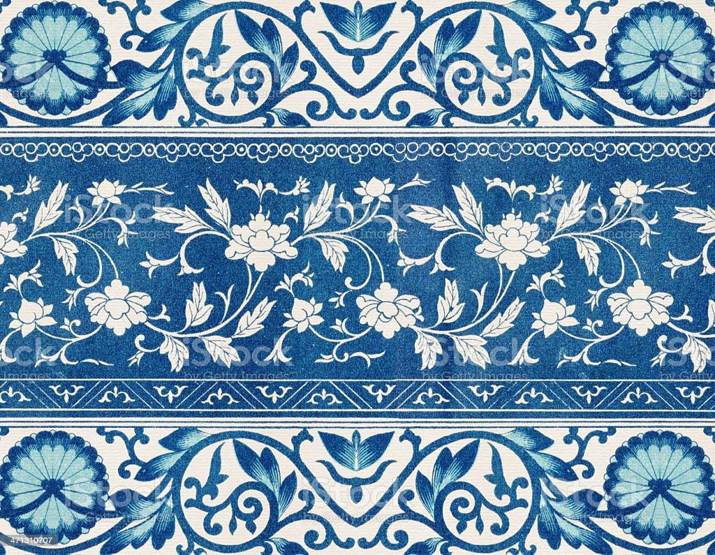 Traditional Asian Wallpaper vector art illustration