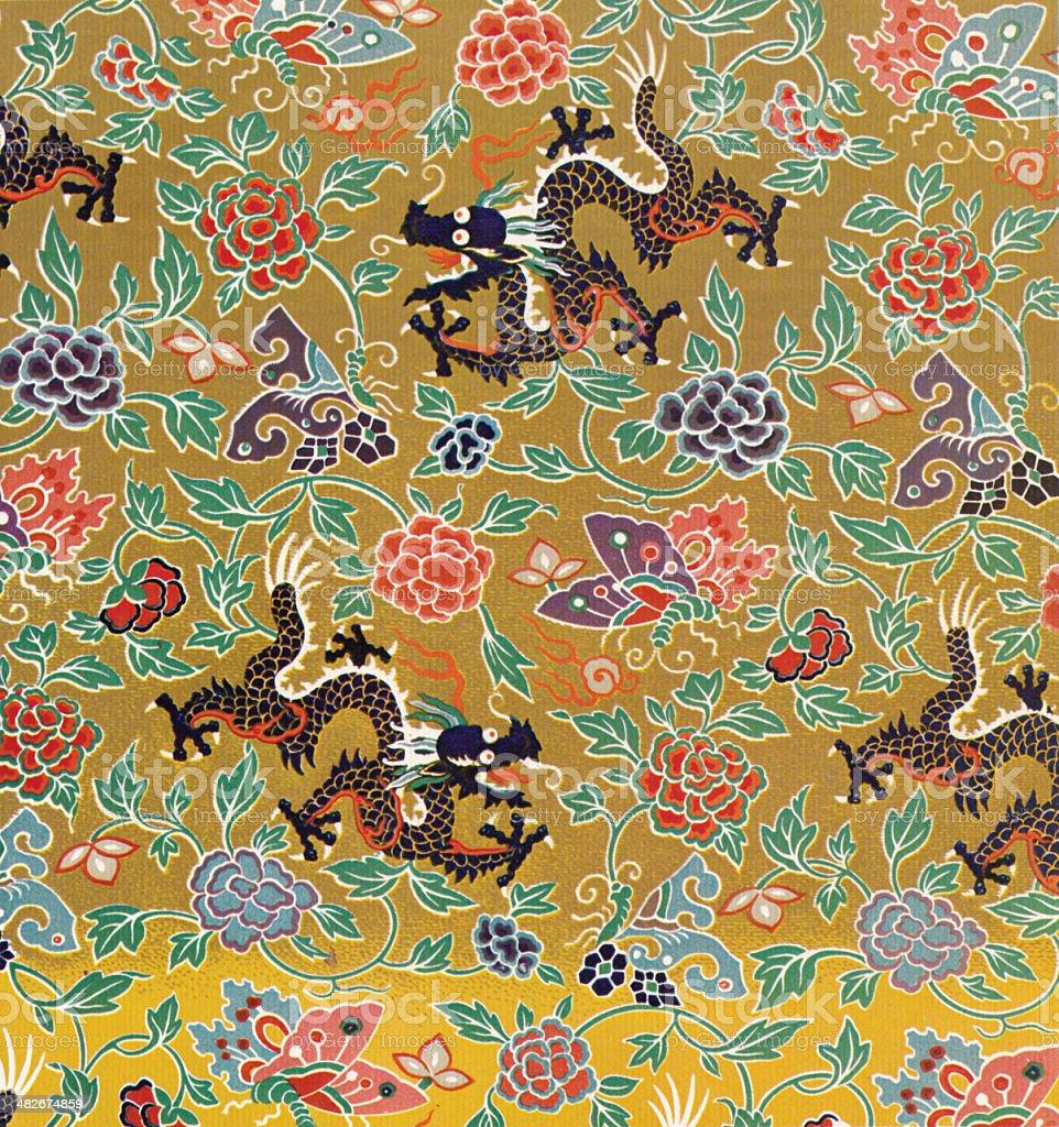 Asiatische Tapete traditionelle asiatische tapete stock vektor und mehr bilder