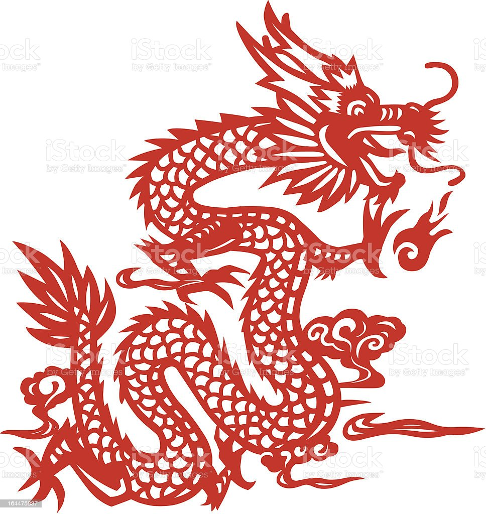 Dragon chinois traditionnel coup de papier dart for Arts martiaux chinois liste
